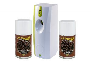 Kaffee Duftspray Set: Air Free Spender + 2 Duftspray Kaffee Dosen