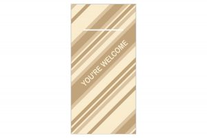 "Mank Pocket-Napkins ""YOU´RE WELCOME"", braun"
